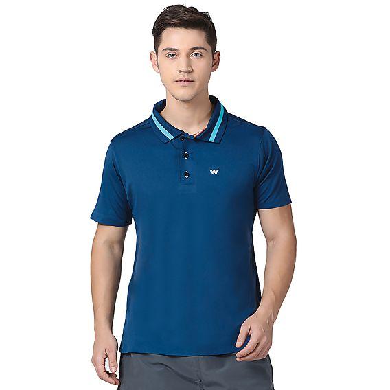 5db6e746 Buy Men Poly Bonded Polo T-Shirt - Navy Online   T-Shirts & Shirts ...