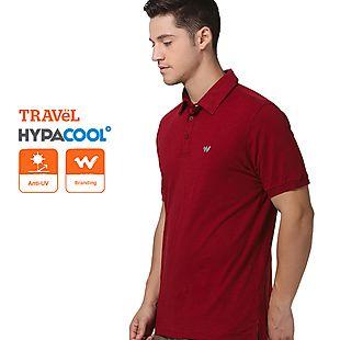 Wildcraft Men Slub Polo T-Shirt - Maroon