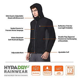 Wildcraft Hypadry Pro Unisex Rain Cheater - Black