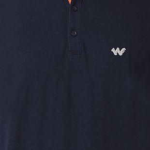 Wildcraft Men Slub Polo T-Shirt - Navy