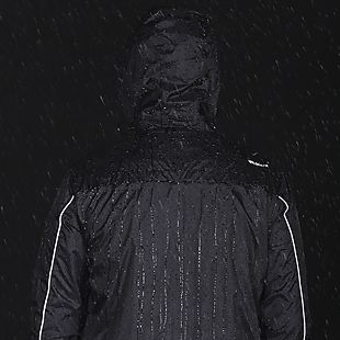 Wildcraft Hypadry Plus Unisex Rain Jacket - Black