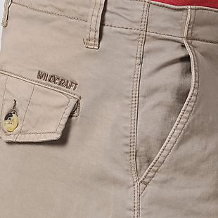 Wildcraft Men Cotton Cargo Bermuda - Beige