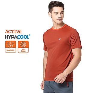 Wildcraft Men Hypacool Dual Shade Crew T Shirt - Orange